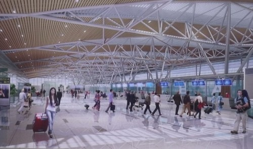 Work starts on seagull-shaped int'l terminal at central Vietnam's largest airport