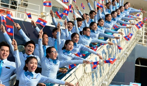 Southeast Asian youth ship anchored in Ho Chi Minh City