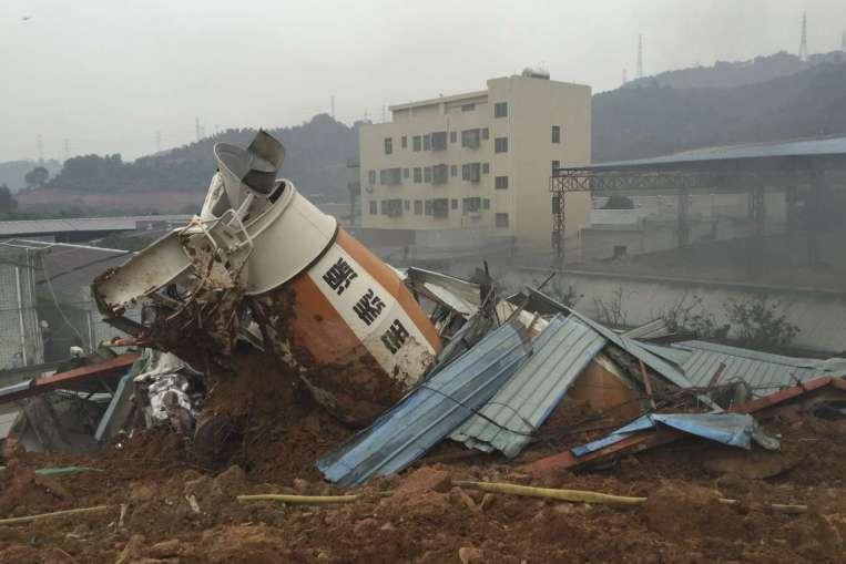 Landslide at industrial park in China leaves 41 missing