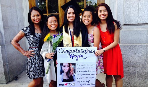 Vietnamese fire survivor and siblings thrive in US