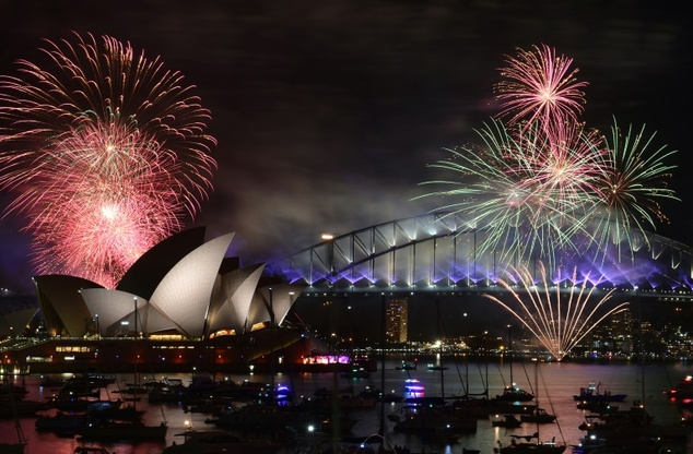 World begins welcoming New Year despite terror fears