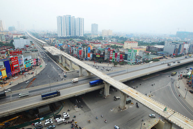 Construction of Hanoi urban railway project gets tardy due to indebted Chinese contractor
