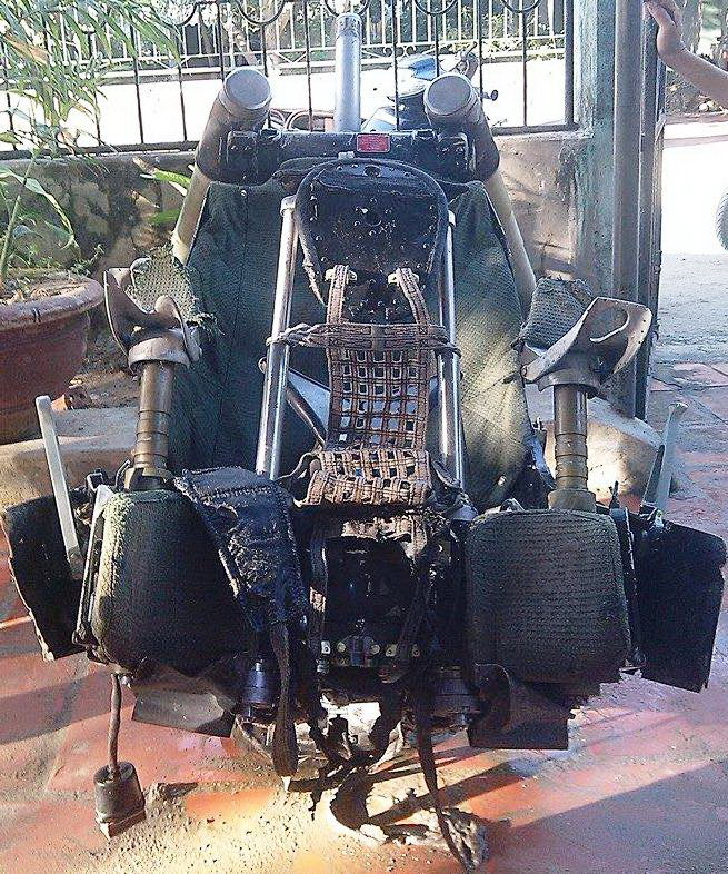 Pilot chair from crashed Russian-made fighter jet found off central Vietnam