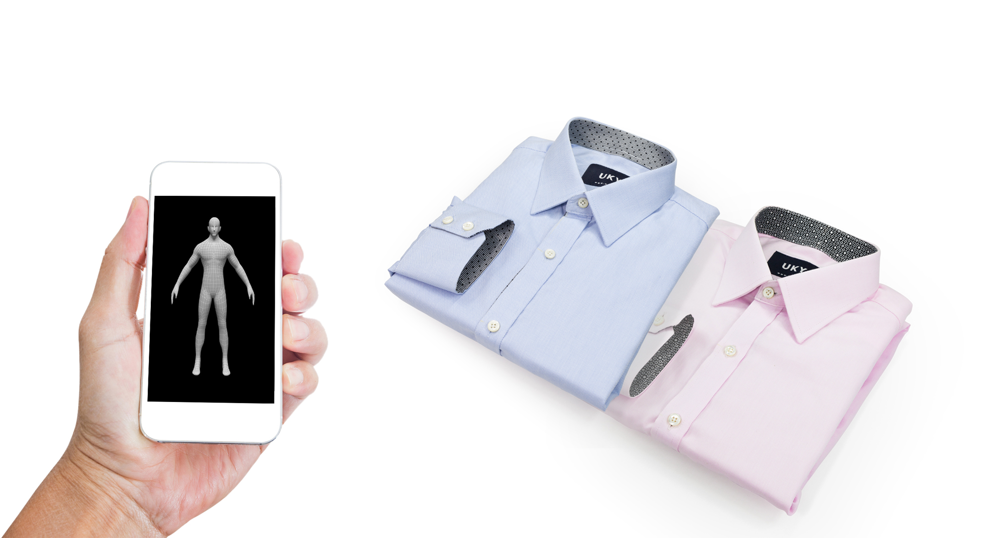 Tailoring shirts via Vietnamese-made app