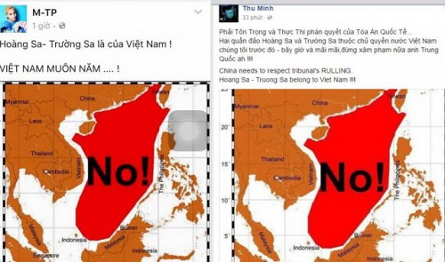 Vietnamese celebs reject China's claim to East Vietnam Sea