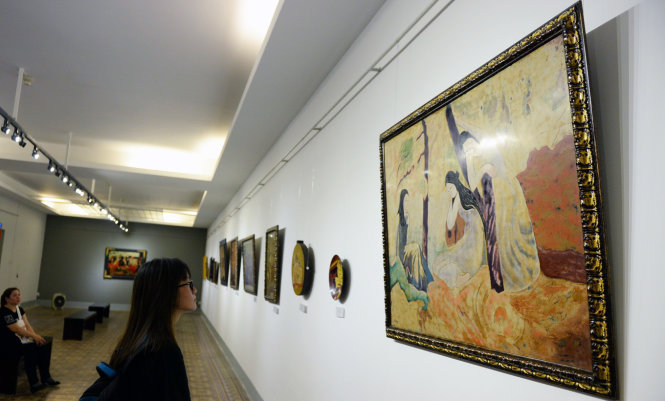 Art exhibition featuring renowned Vietnamese painters found entirely fake