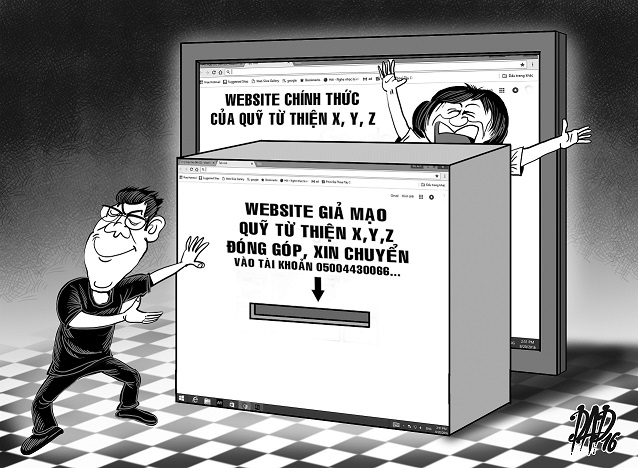 Bogus websites trick benefactors in Vietnam
