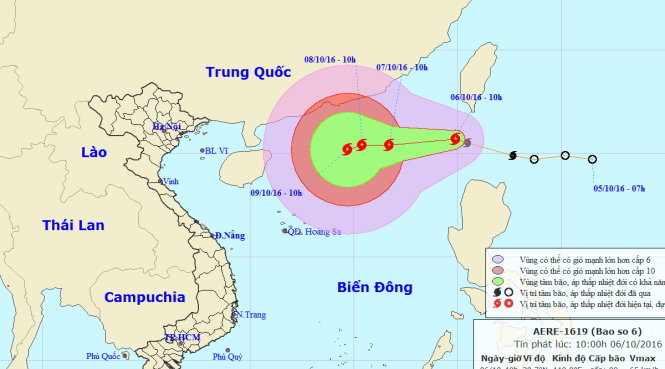 Tropical storm Aere picks up strength as central Vietnam braces for heavy rains