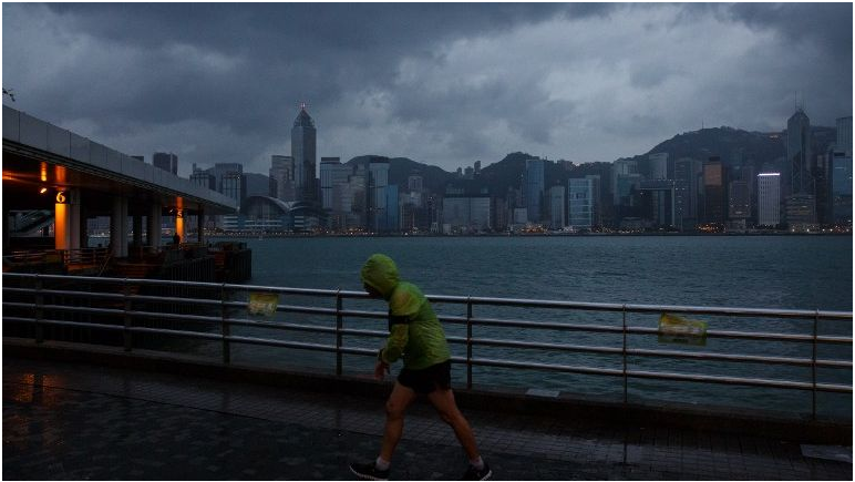 Typhoon kills 12, destroys rice fields in Philippines, takes aim at Hong Kong
