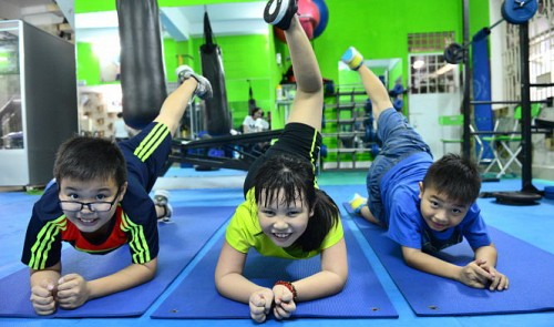 Ho Chi Minh City kids train hard to shed weight