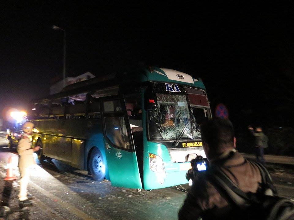 Two killed, 12 injured in passenger bus explosion in northern Vietnam