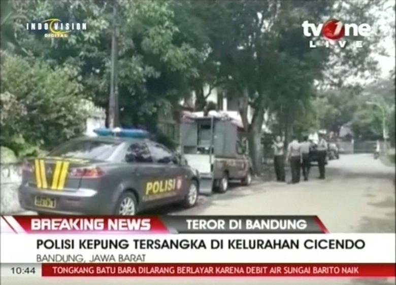 Indonesian police shoot bomber after explosion in Bandung city