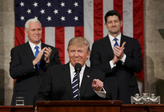 Trump delivers great speech but America still divided