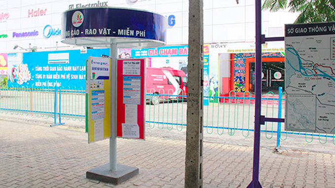 Southern Vietnamese city builds public bulletin poles