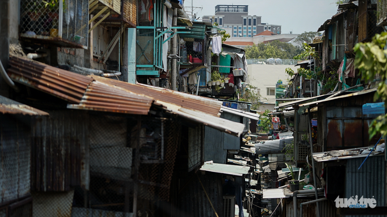 What's it like living in tenements waiting to collapse in Saigon?