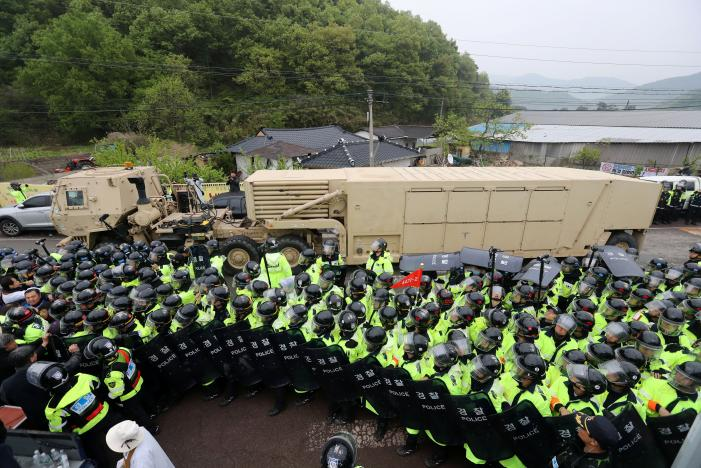 U.S. moves THAAD to South Korean site as North Korea boasts fire power