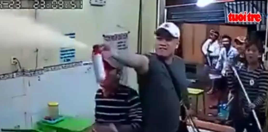 Ice-cream shop vandalized in downtown Ho Chi Minh City