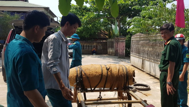 Six arrested for attempted sale of 300kg bomb in Quang Tri