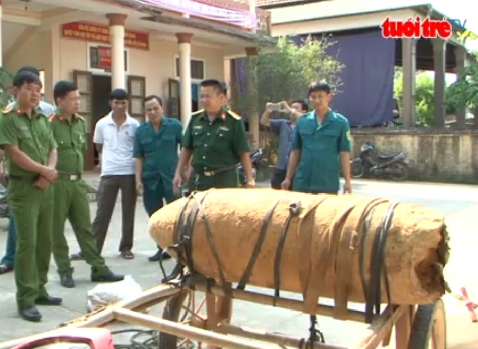 Man transporting 300-kg bomb arrested in Quang Tri Province