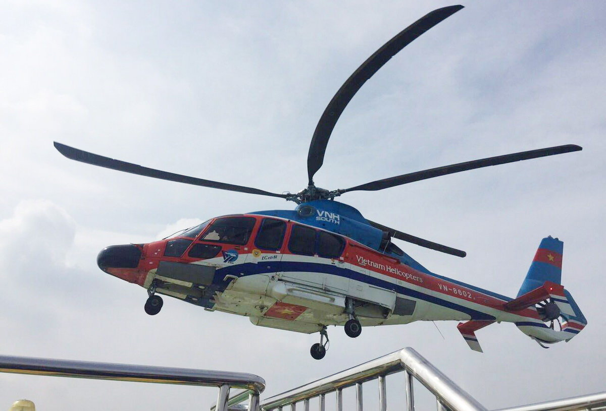Test flight conducted for new helipad in downtown Ho Chi Minh City