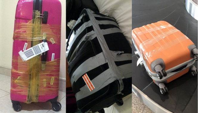 The bitter truth behind sticky-tape wrapped luggage headed for Vietnam