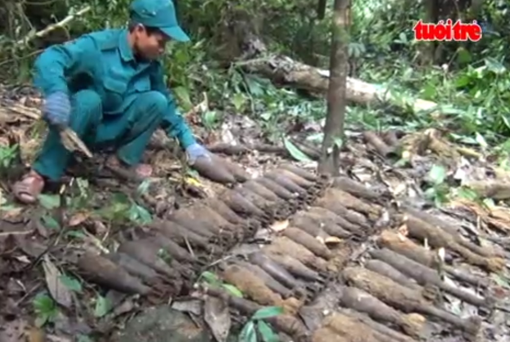 11 tons of firearms found and destroyed in Quang Nam Province