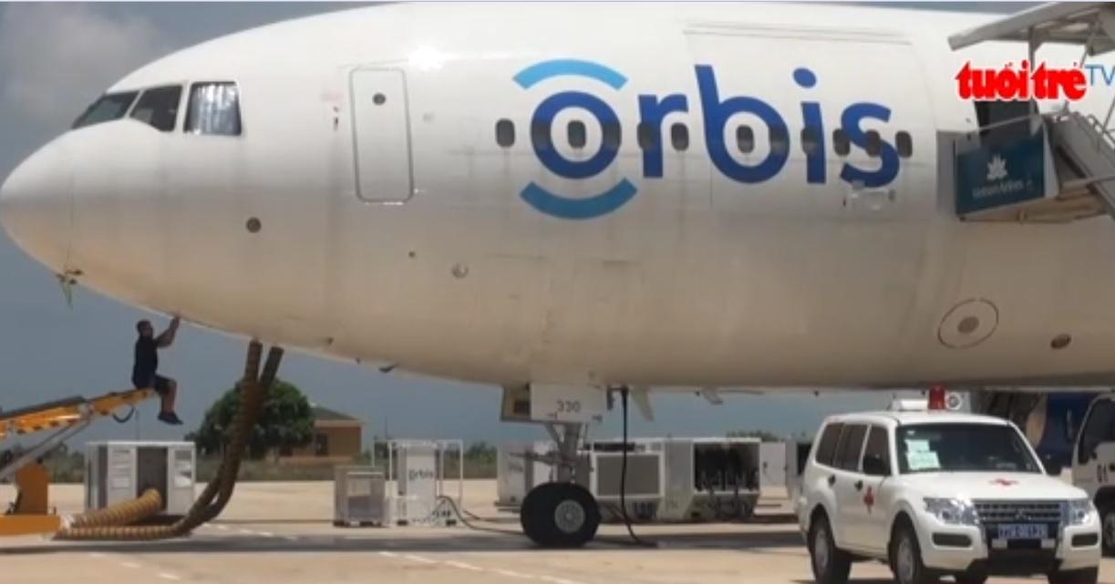 Orbis Flying Eye Hospital arrives in central Vietnam