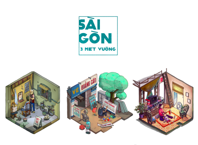 Young artists draw Saigon in three square meters