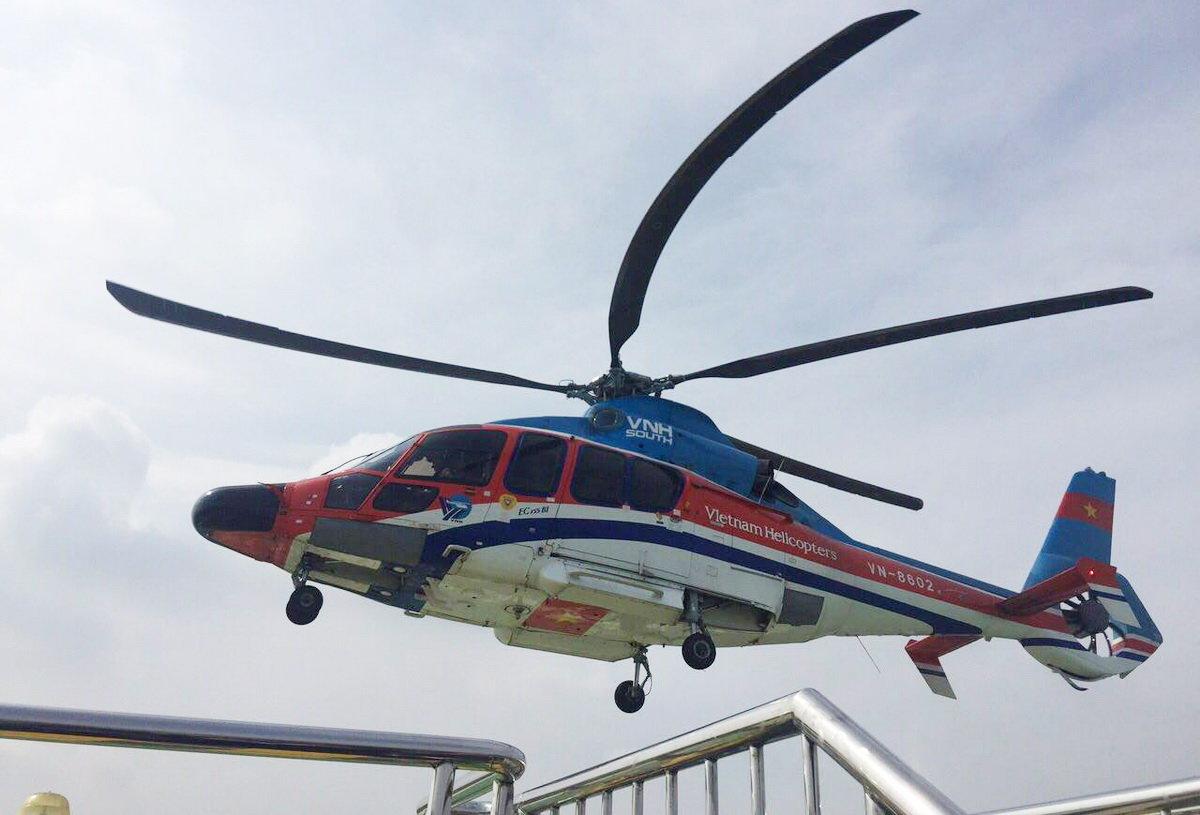 Ho Chi Minh City tests helicopter passenger transport service