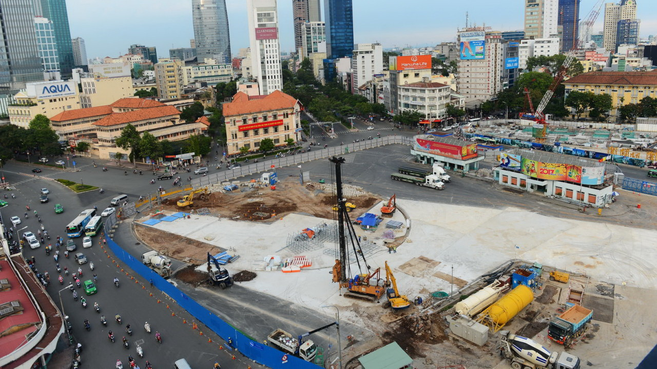 Downtown Saigon streets re-routed for metro construction