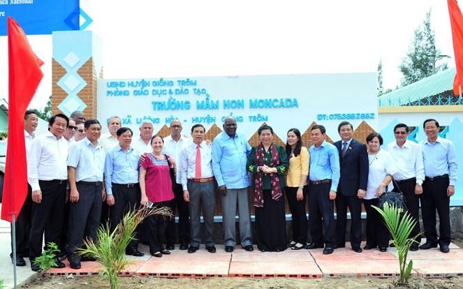 Cuban parliament president attends inauguration of Moncada preschool in Vietnam