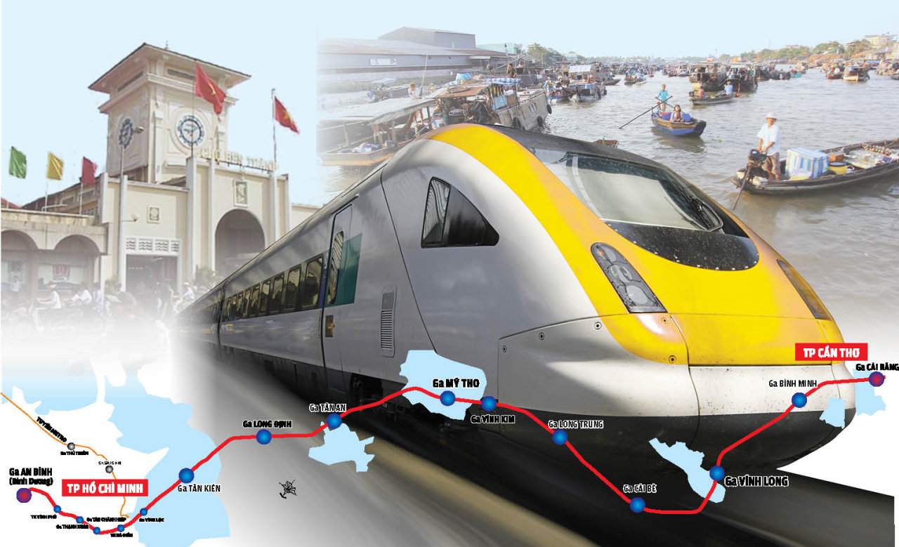 Vietnam mulls 45-minute Saigon-Can Tho train service