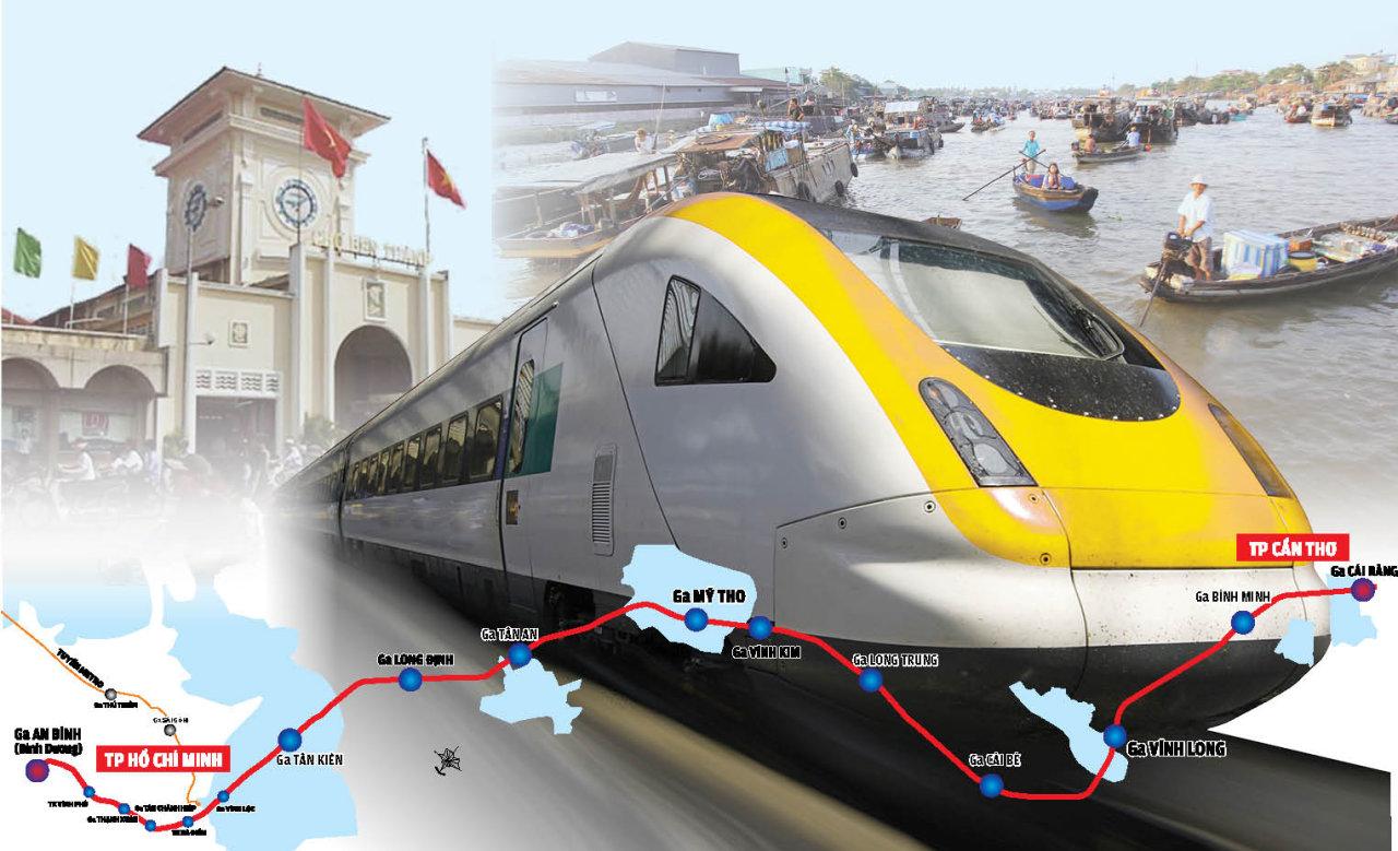 Vietnam mulls 45-minute Saigon-Can Tho train service