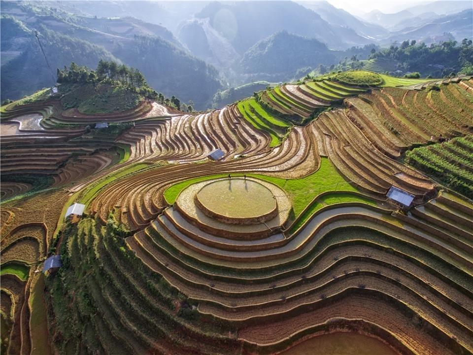 Terraces in Mu Cang Chai District, Yen Bai Province