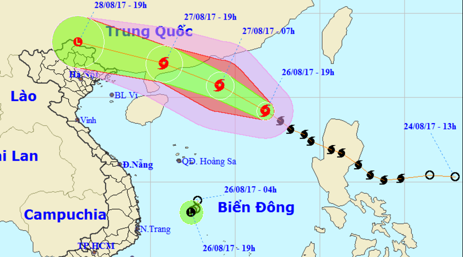 East Vietnam Sea hit by storm, tropical depression