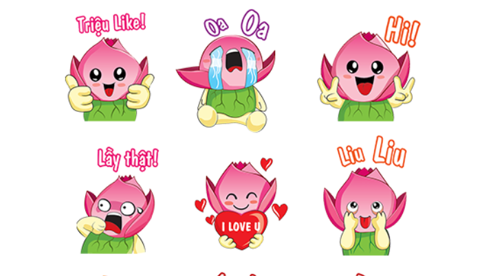 In Vietnam, provincial mascot inspires stickers of local chat app