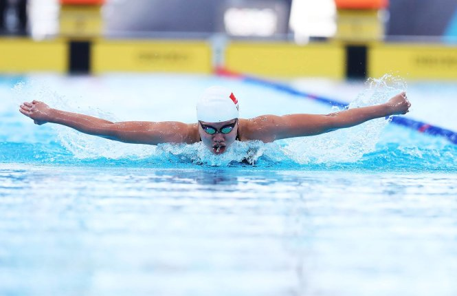 Vietnam's top swimmer raises eyebrows over plan to 'win it all' at national tournament