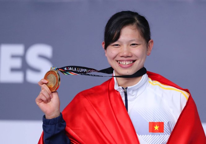 Vietnam's eight-time gold medalist Nguyen Thi Anh Vien
