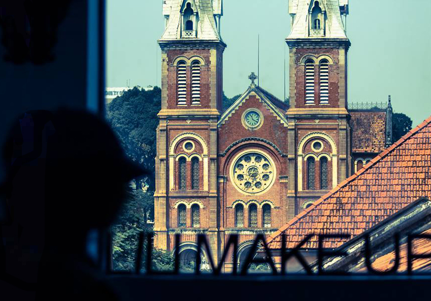 The Notre-Dame Cathedral Basilica of Saigon is seen in a photo taken by photographer Tanya Olander from Sweden