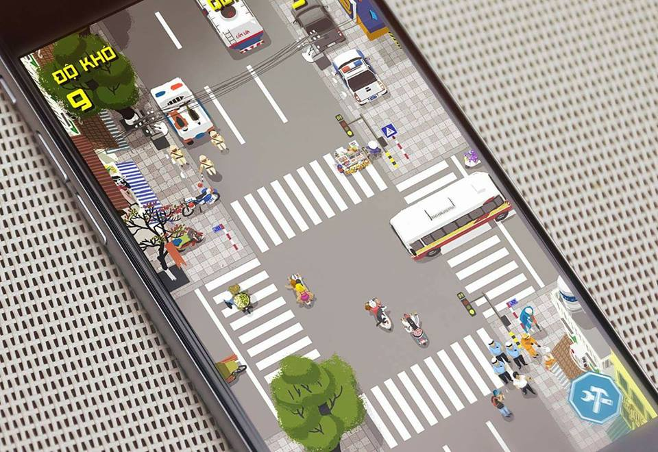 Mobile game challenges players to survive traffic in Vietnam