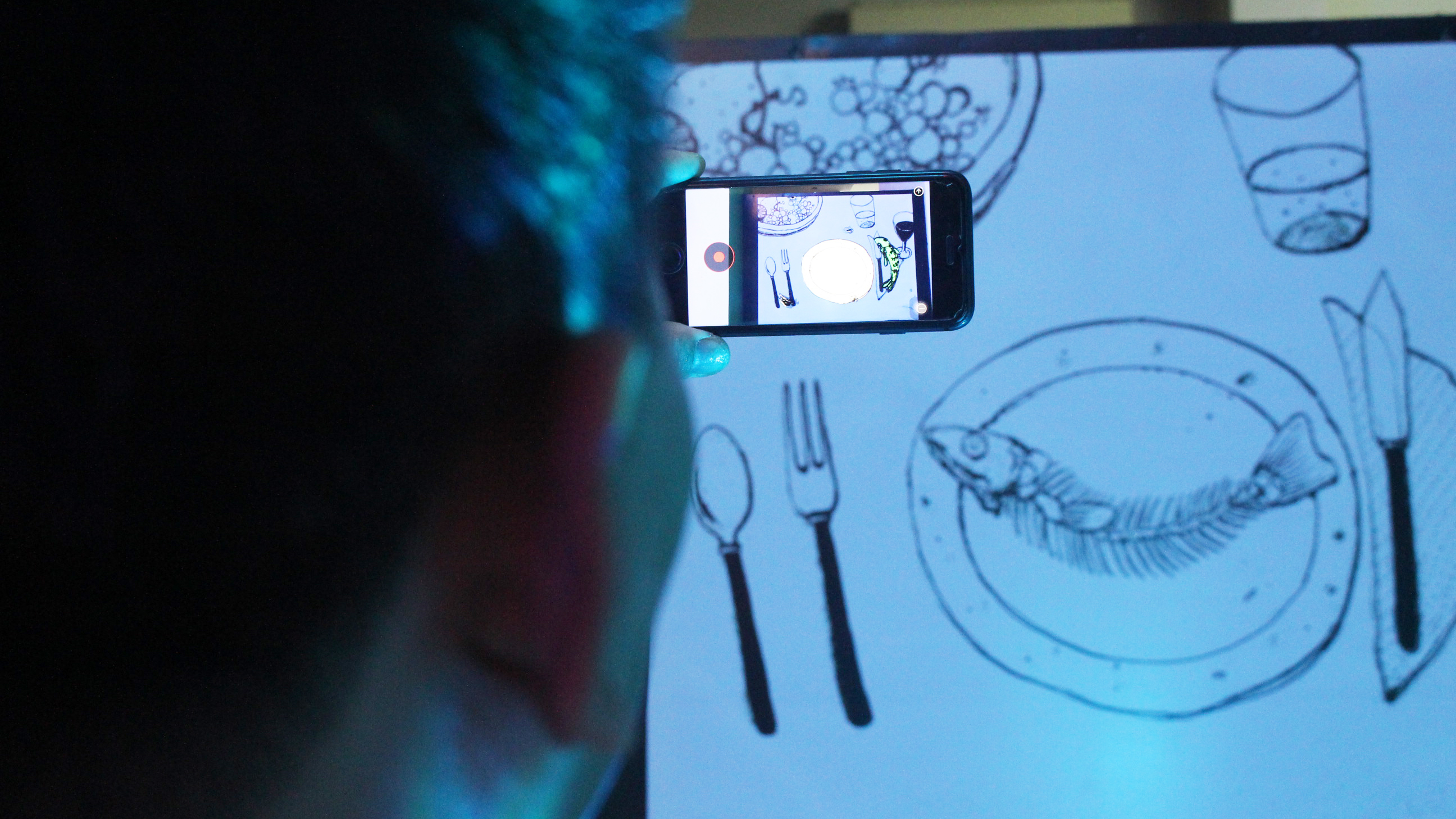 People can enjoy the artworks via an application called EyeJack on their smartphones.