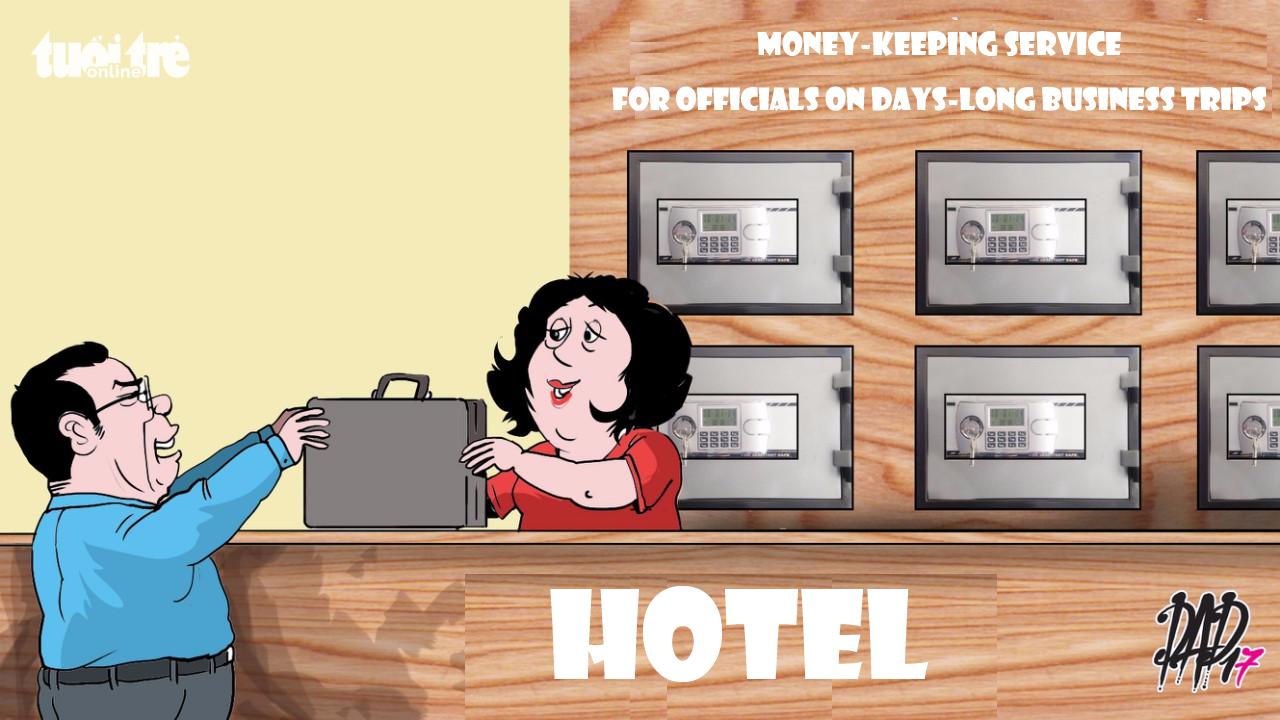 Cartoon: Money-keeping service for officials in Vietnam