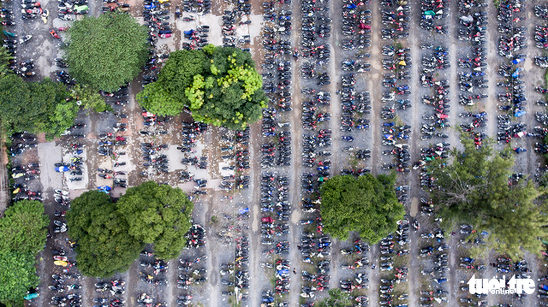 The parking lot of the Ho Chi Minh City University of Technology and Education in Thu Duc District.