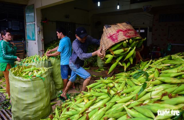 Ho Chi Minh City's biggest corn market