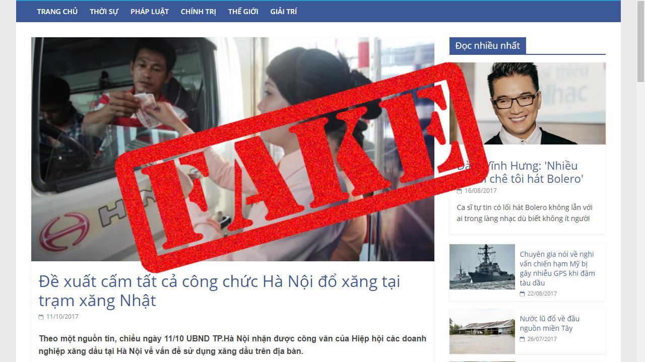 Hanoi probes website behind fake 'ban' rumor on Japanese gas station