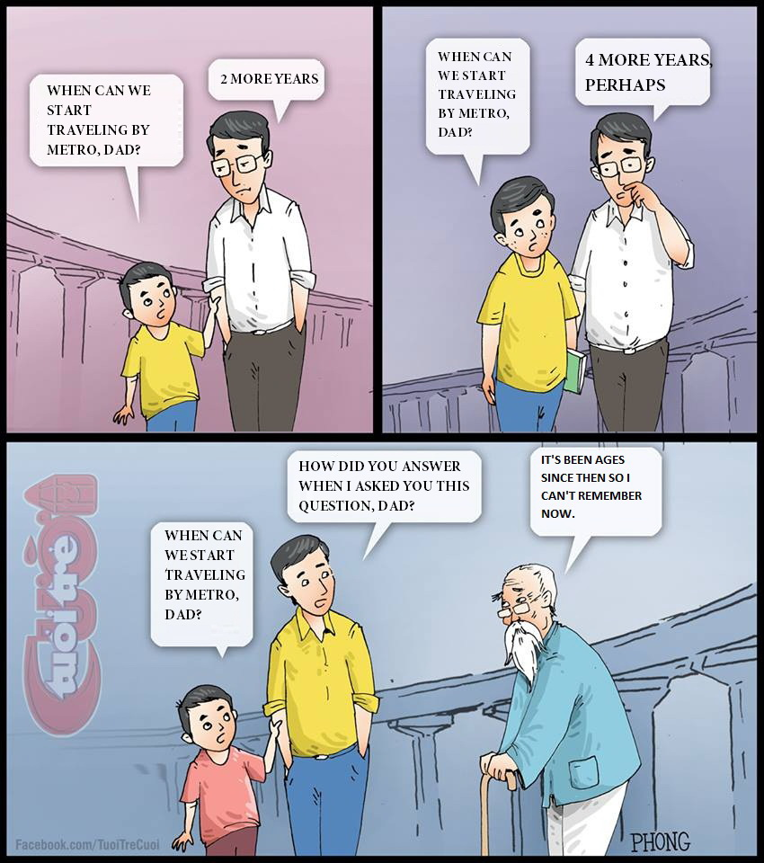 Cartoon: When can we travel by metro in Ho Chi Minh City?