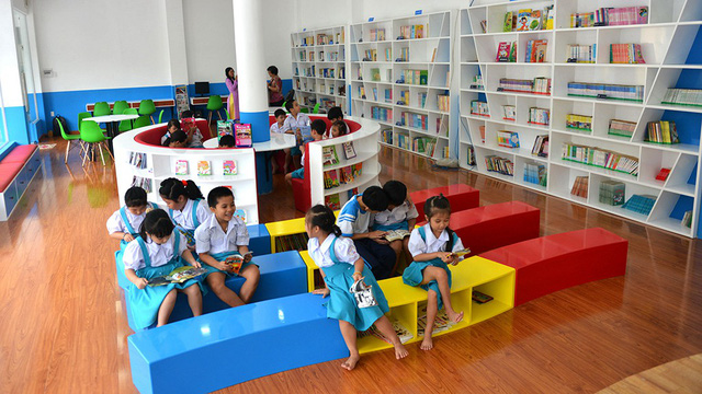 The library is spacious and clean. Photo: Tuoi Tre