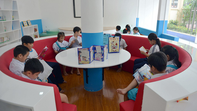 A space for students to read. Photo: Tuoi Tre
