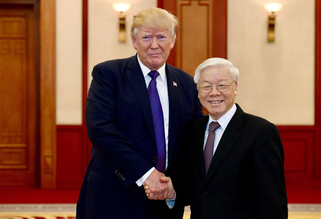 US President Trump treasures meeting with Vietnam Party chief