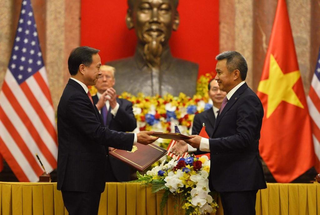 Vietnam, US sign deals worth $12bn during Trump visit